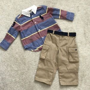 Baby boy Ralph Lauren shirt and pants set